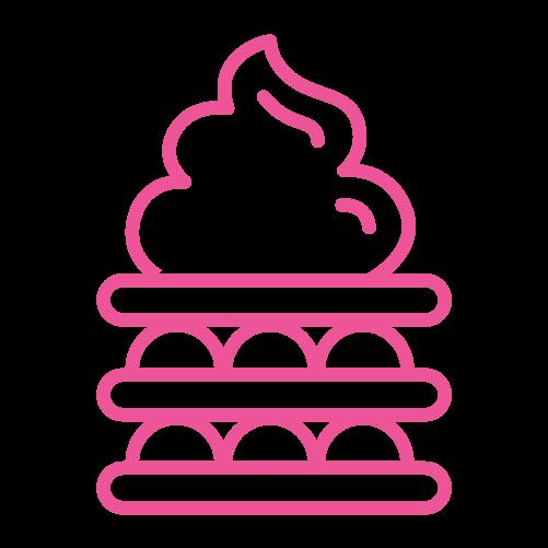 Καρότσι βάφλα-παγωτό